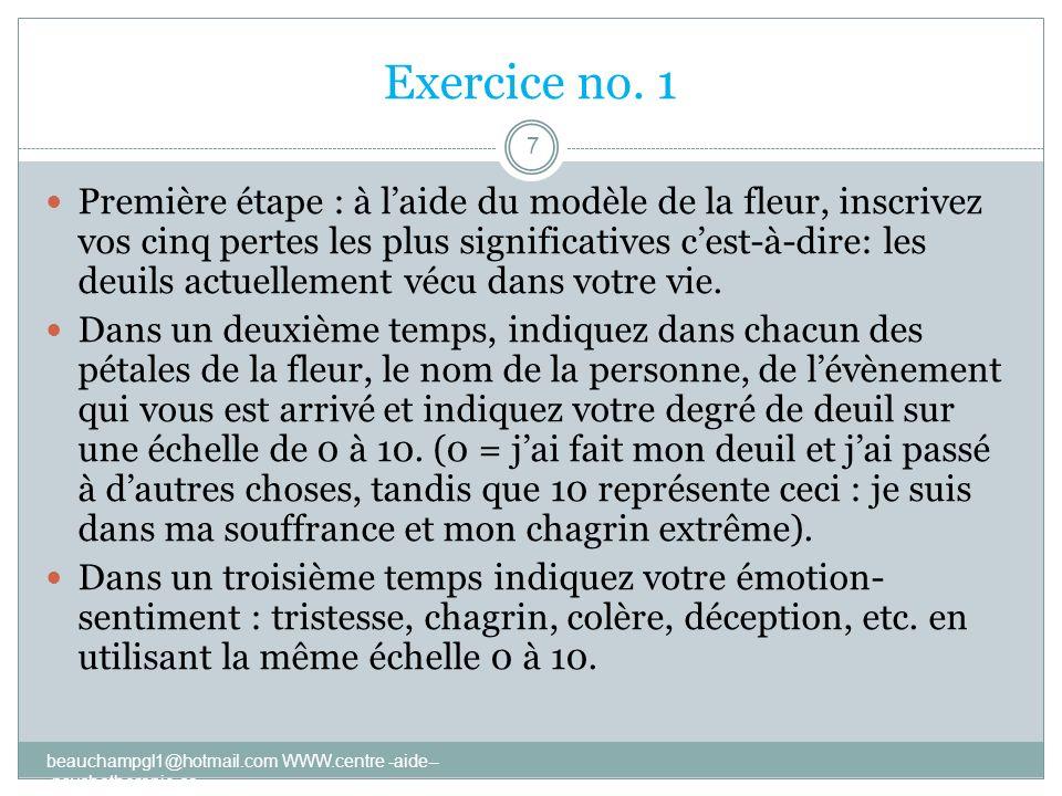 Exercice no. 1