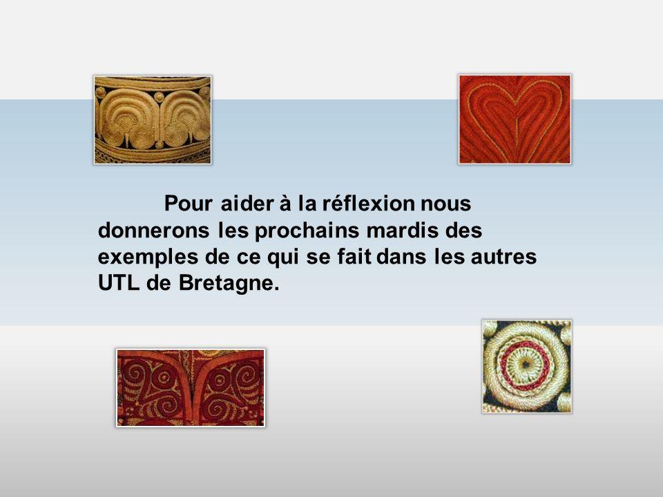 Pour aider à la réflexion nous donnerons les prochains mardis des exemples de ce qui se fait dans les autres UTL de Bretagne.