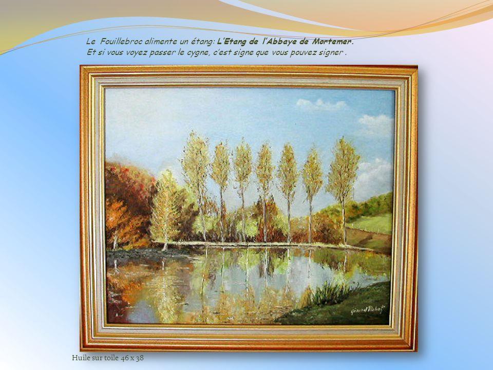 Le Fouillebroc alimente un étang: L'Etang de l'Abbaye de Mortemer