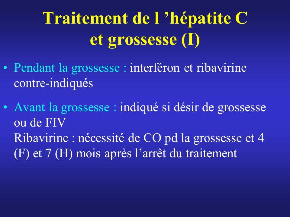 Traitement de l 'hépatite C et grossesse (I)