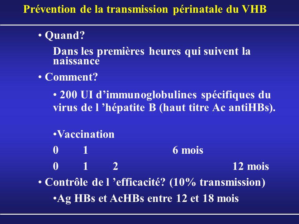 Prévention de la transmission périnatale du VHB