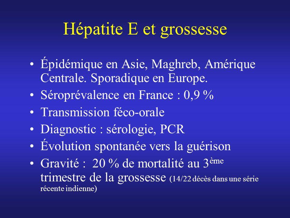 Hépatite E et grossesse