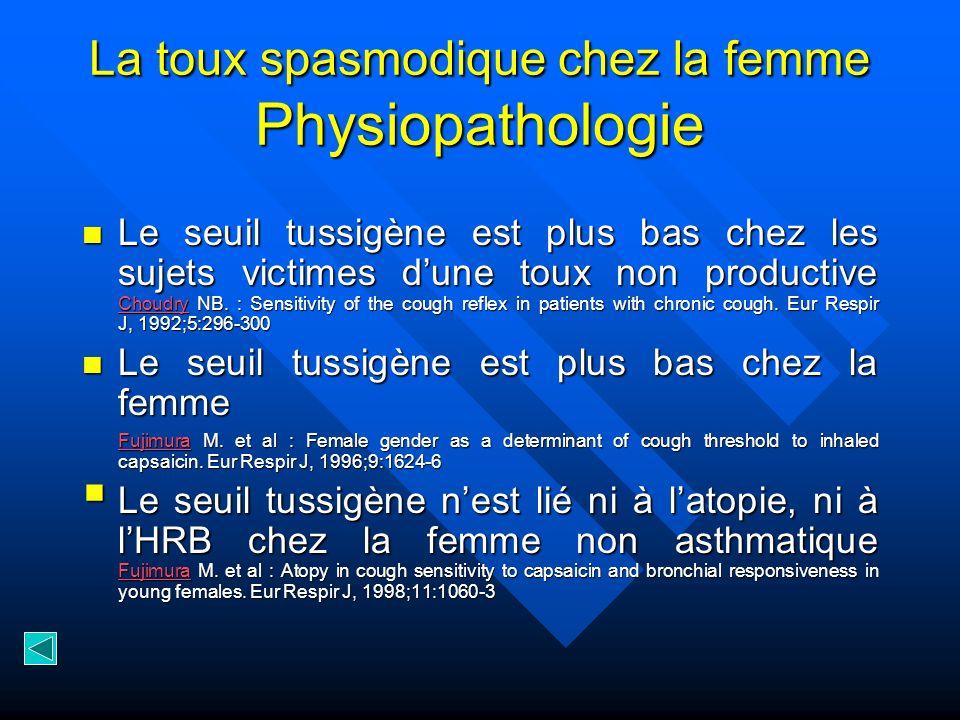 La toux spasmodique chez la femme Physiopathologie