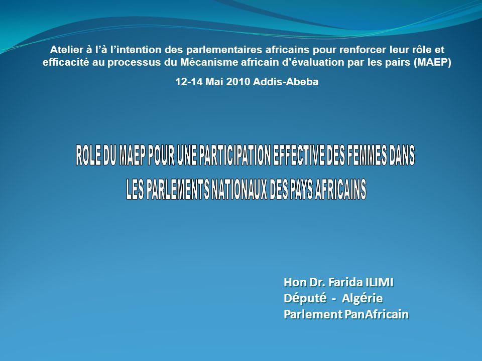 Hon Dr. Farida ILIMI Député - Algérie Parlement PanAfricain