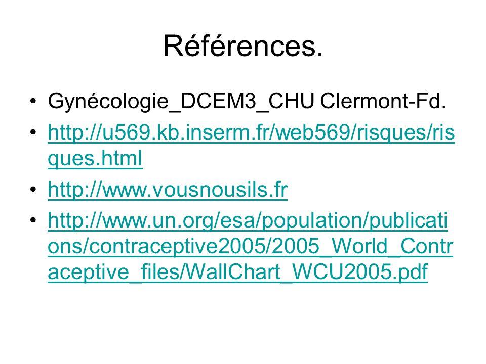 Références. Gynécologie_DCEM3_CHU Clermont-Fd.