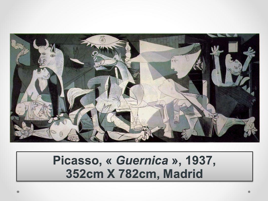 Picasso, « Guernica », 1937, 352cm X 782cm, Madrid