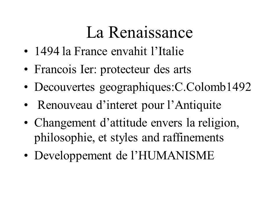 La Renaissance 1494 la France envahit l'Italie