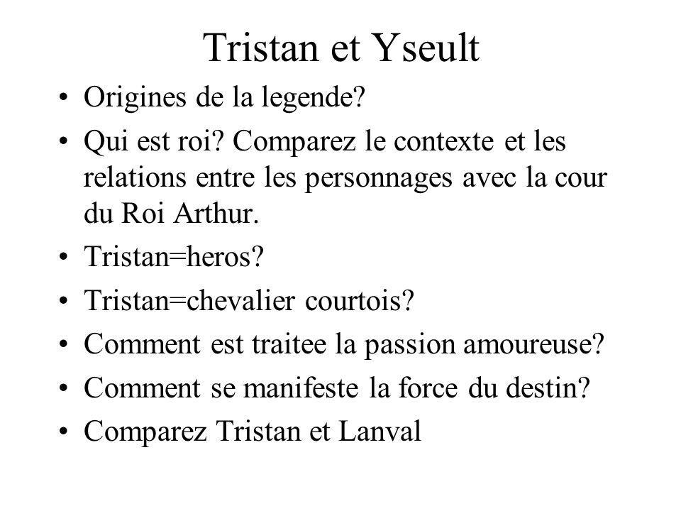 Tristan et Yseult Origines de la legende