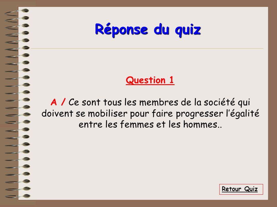 Réponse du quiz Question 1