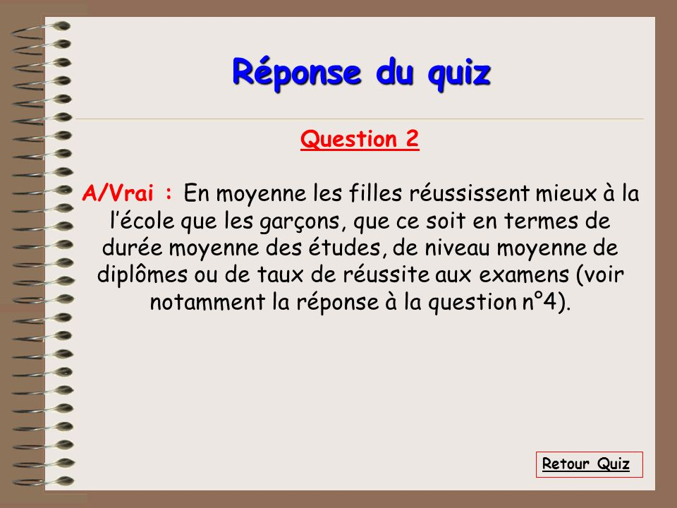 Réponse du quiz Question 2