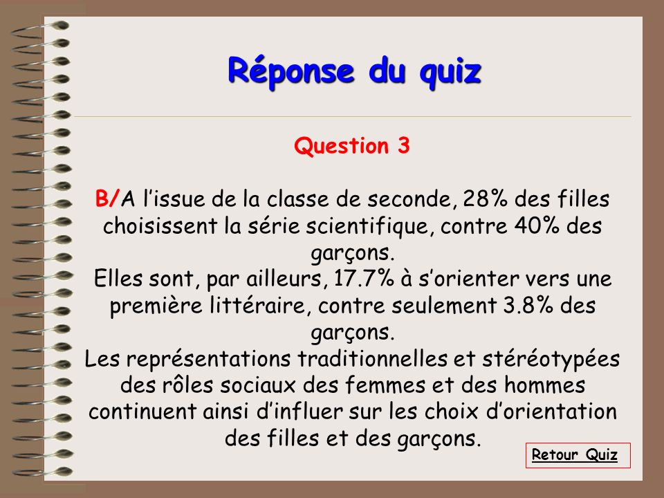 Réponse du quiz Question 3