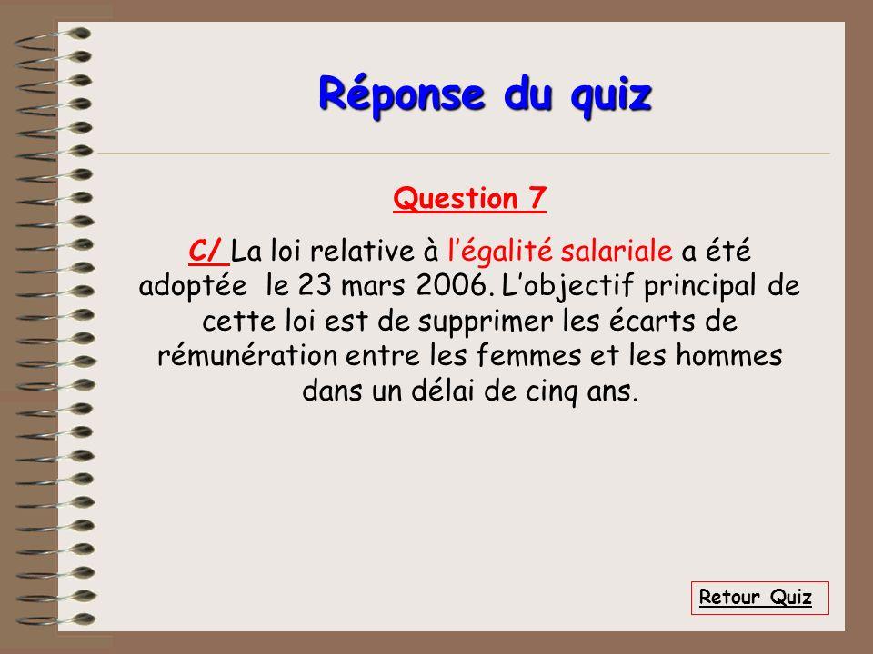Réponse du quiz Question 7