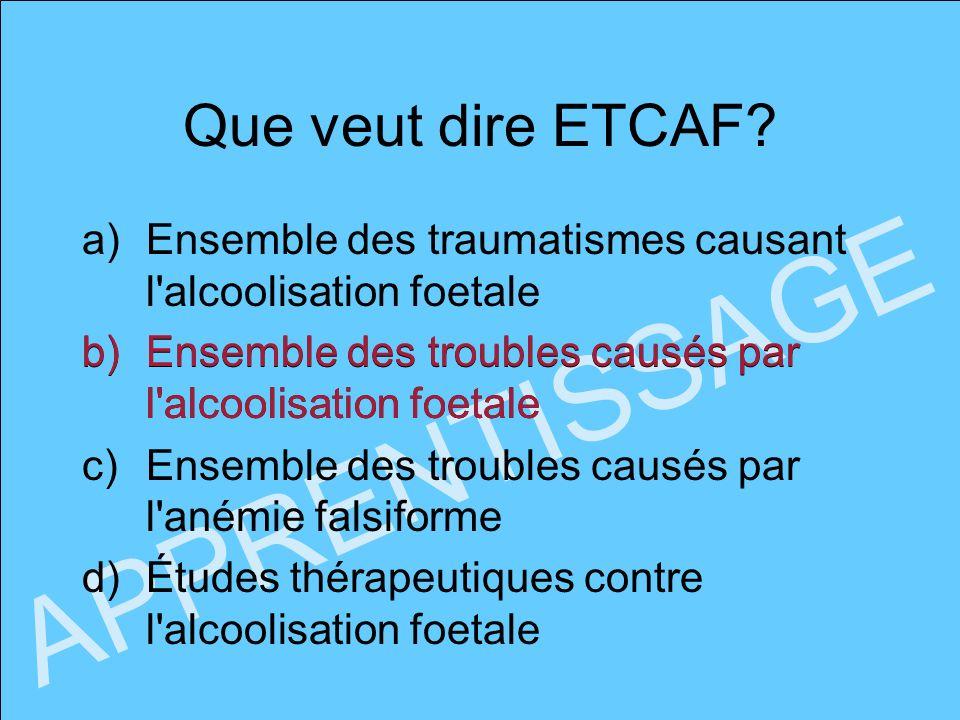 APPRENTISSAGE Que veut dire ETCAF