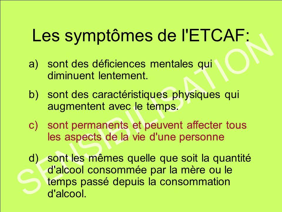 Les symptômes de l ETCAF: