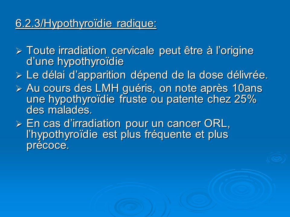 6.2.3/Hypothyroïdie radique: