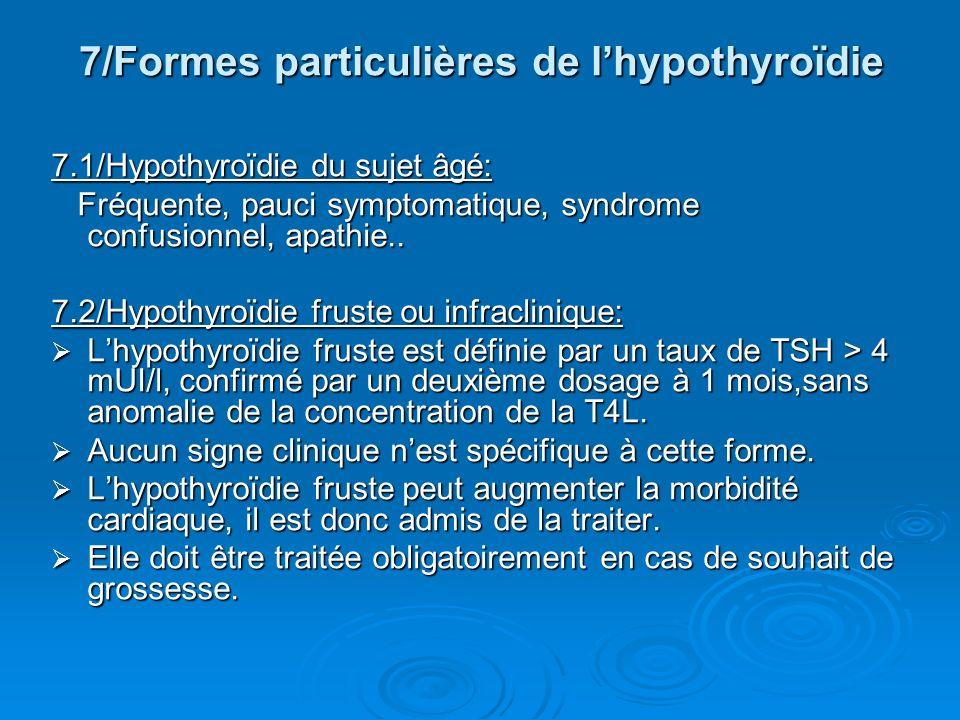 7/Formes particulières de l'hypothyroïdie