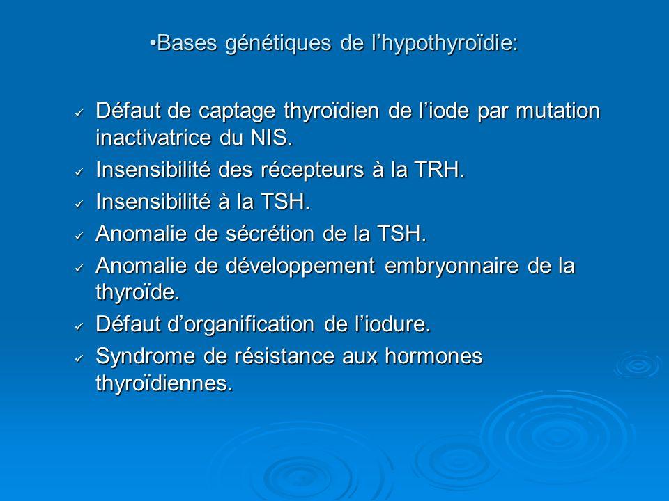 Bases génétiques de l'hypothyroïdie: