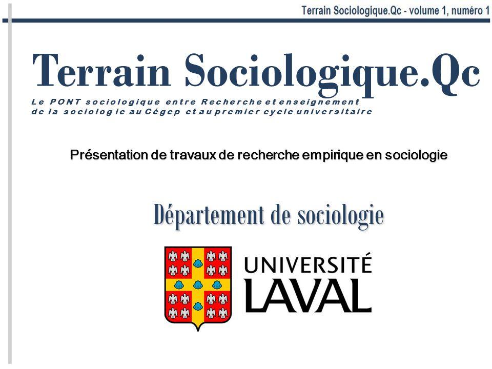 Département de sociologie
