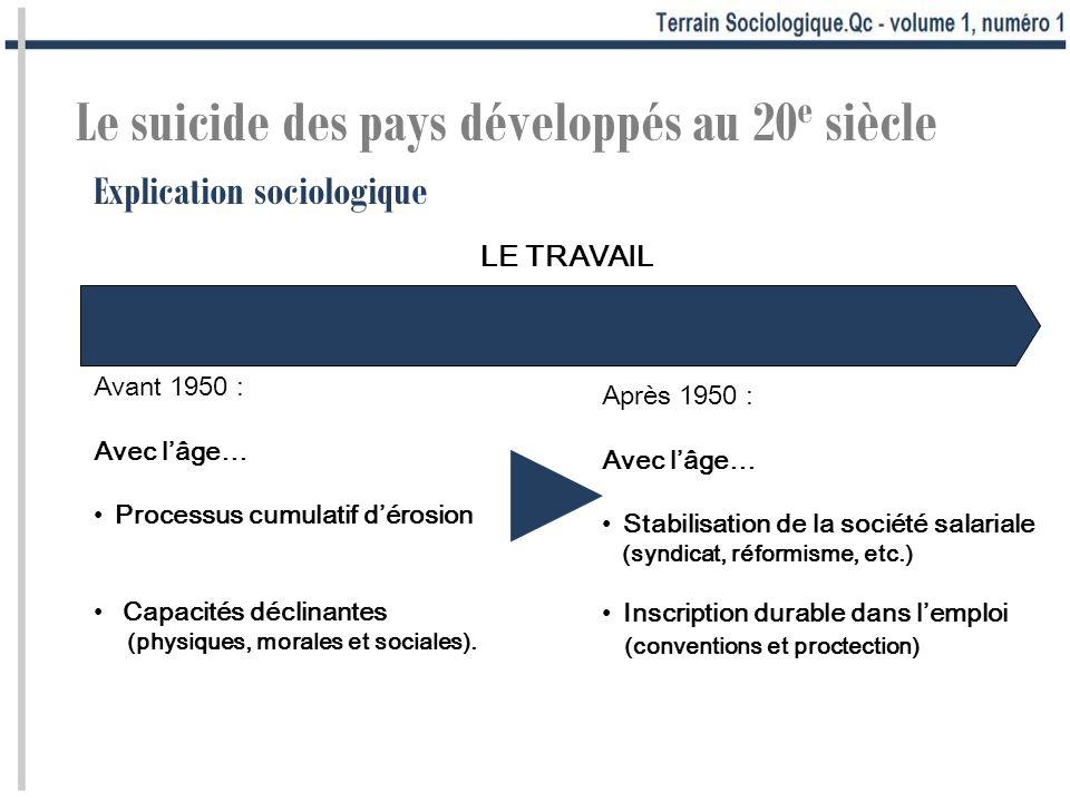 ► Le suicide des pays développés au 20e siècle