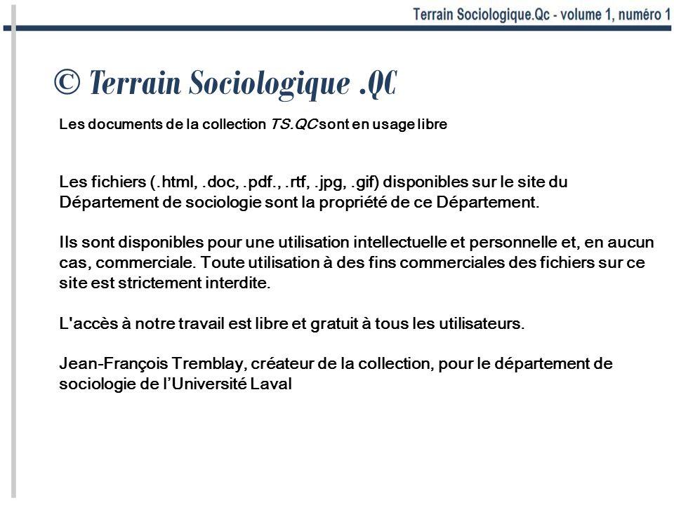 © Terrain Sociologique .QC