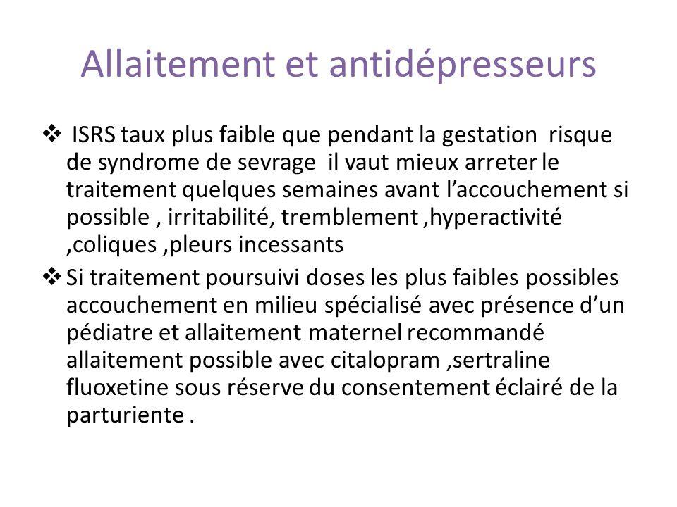 Allaitement et antidépresseurs