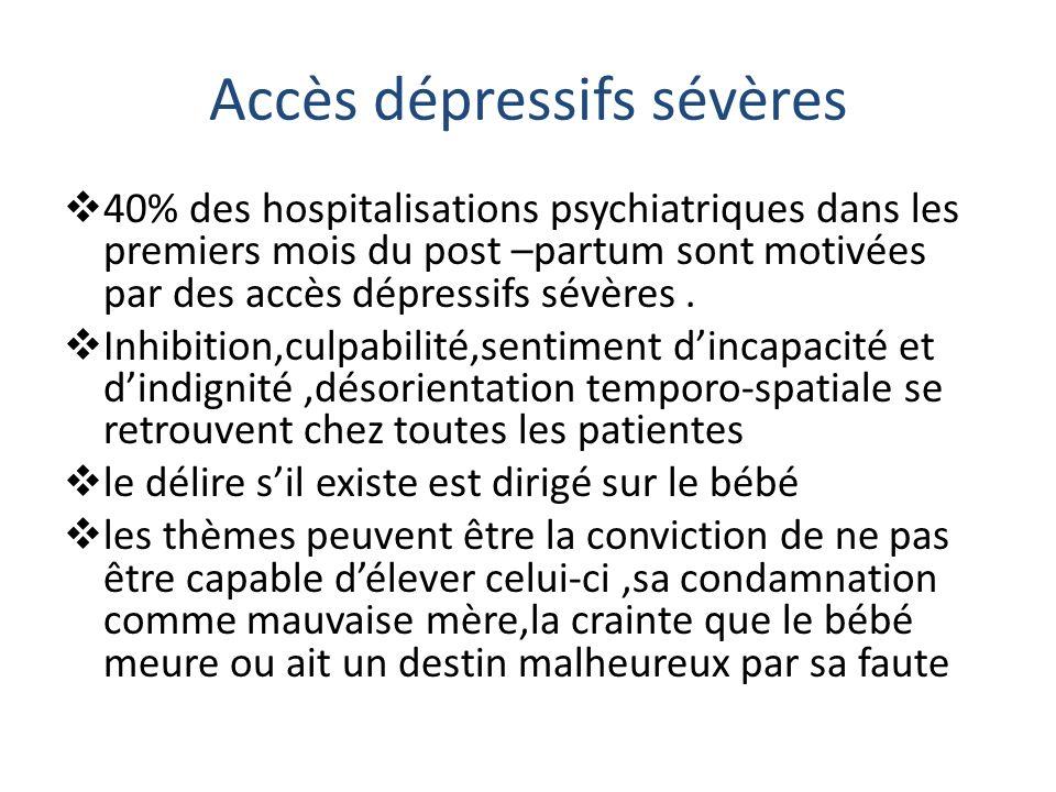 Accès dépressifs sévères