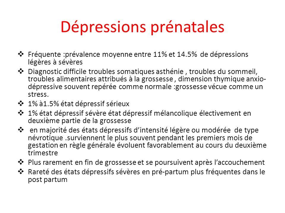 Dépressions prénatales