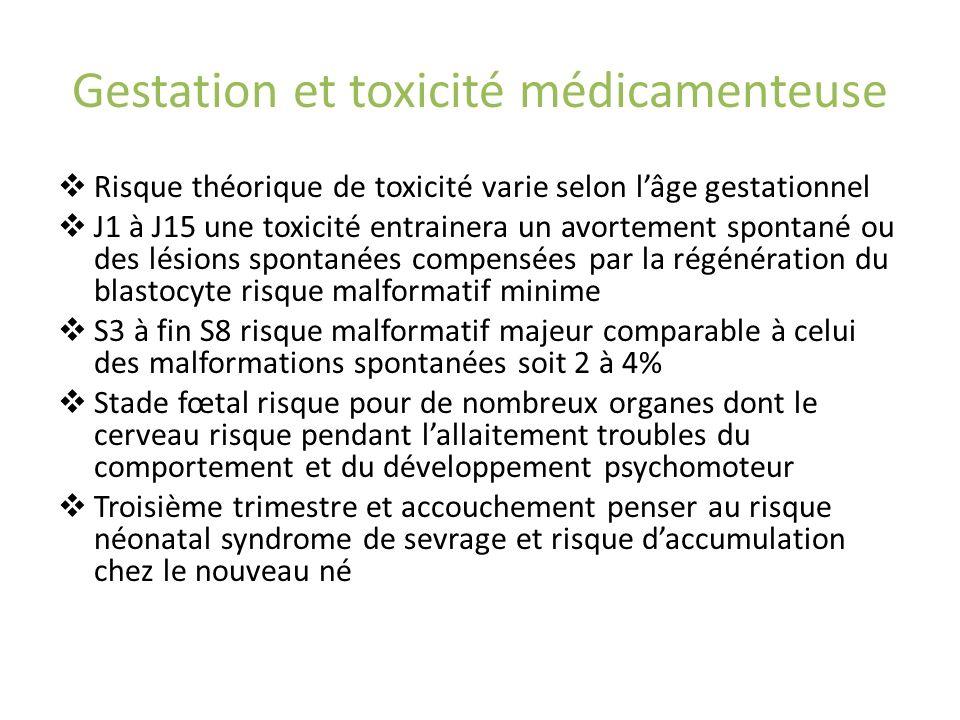 Gestation et toxicité médicamenteuse