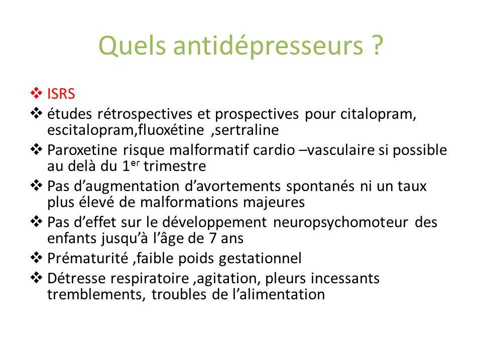 Quels antidépresseurs