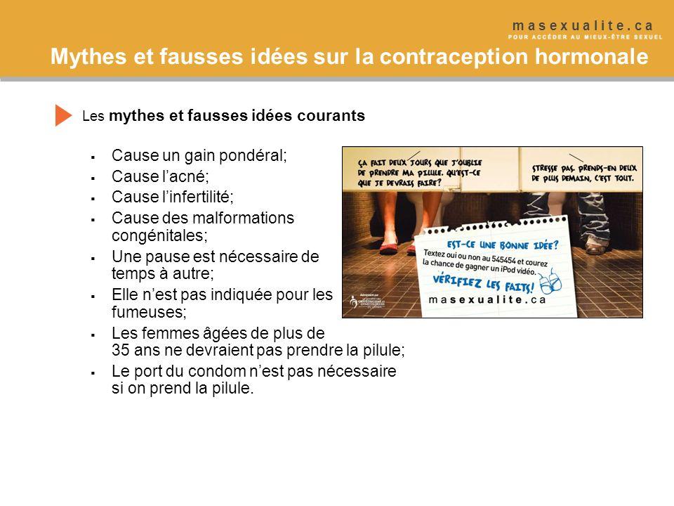 Mythes et fausses idées sur la contraception hormonale