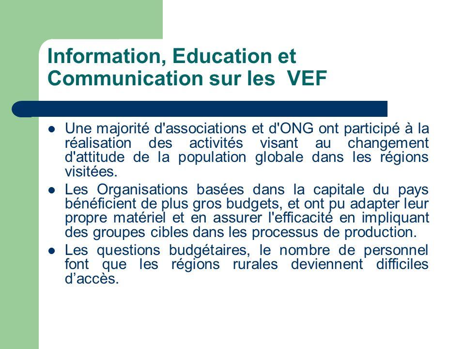 Information, Education et Communication sur les VEF