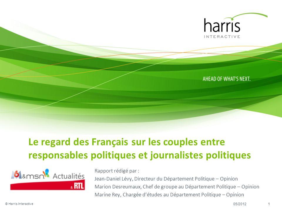 Le regard des Français sur les couples entre responsables politiques et journalistes politiques