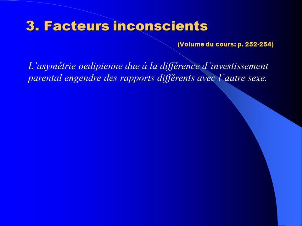 3. Facteurs inconscients (Volume du cours: p. 252-254)