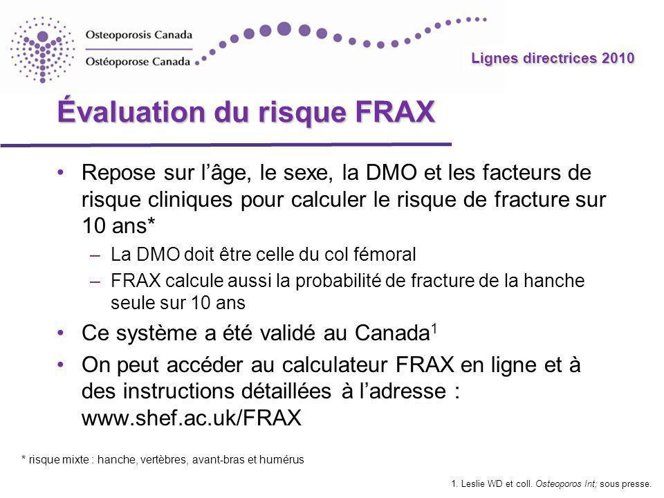 Évaluation du risque FRAX