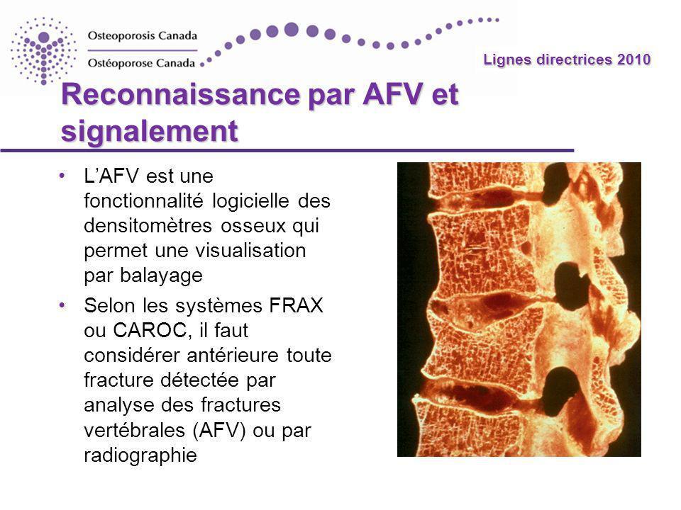 Reconnaissance par AFV et signalement