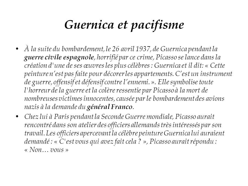 Guernica et pacifisme