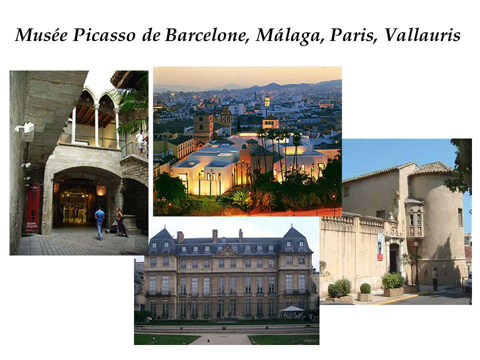 Musée Picasso de Barcelone, Málaga, Paris, Vallauris