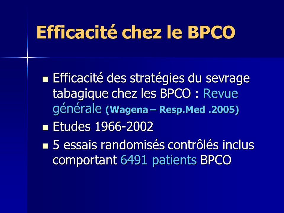 Efficacité chez le BPCO