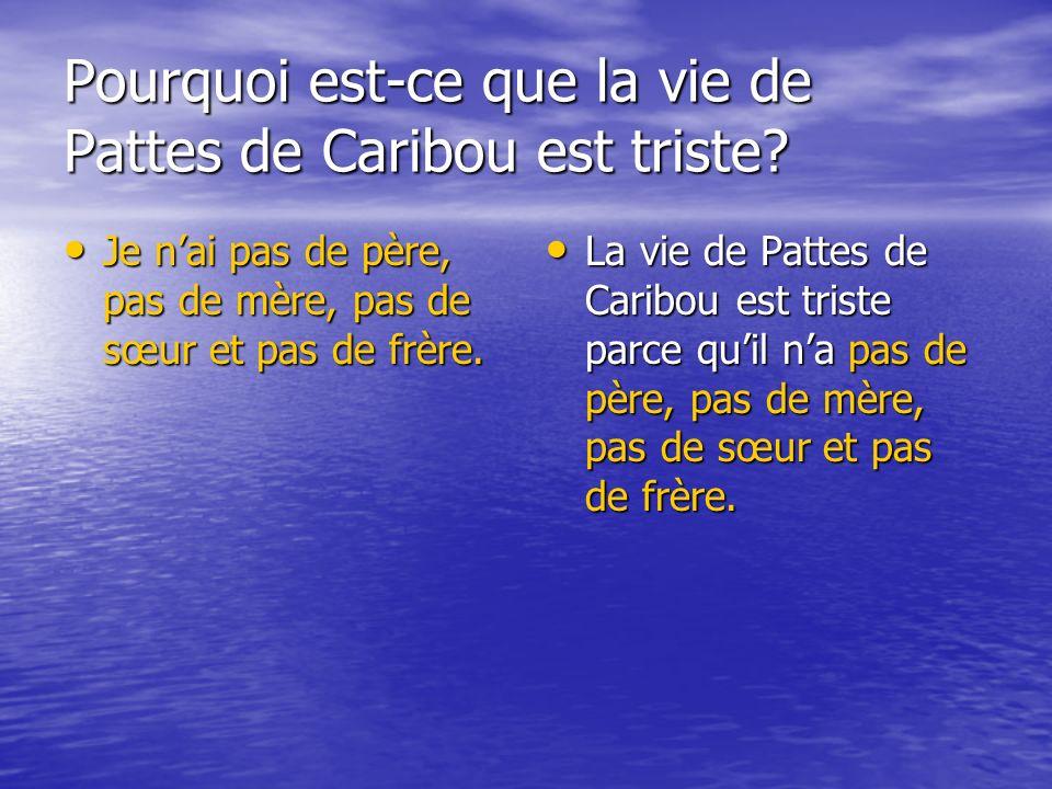 Pourquoi est-ce que la vie de Pattes de Caribou est triste