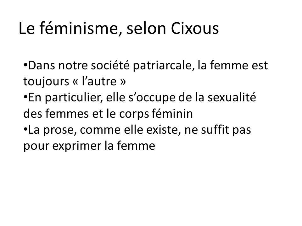 Le féminisme, selon Cixous