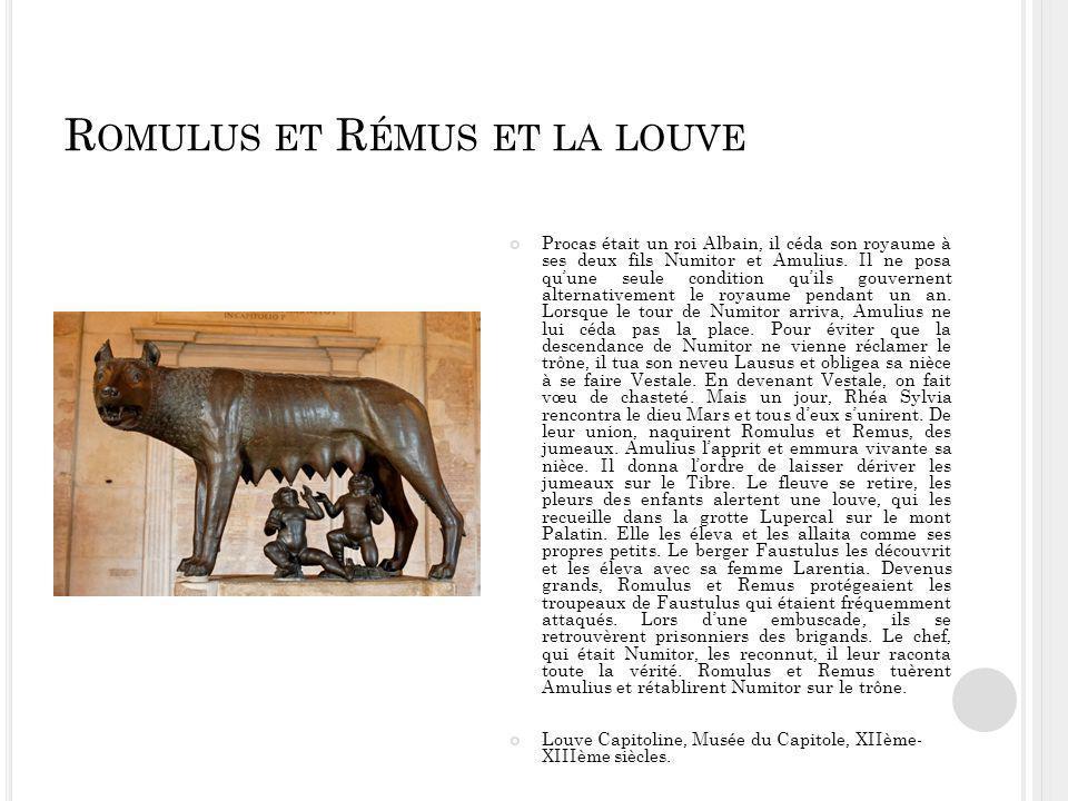 Romulus et Rémus et la louve