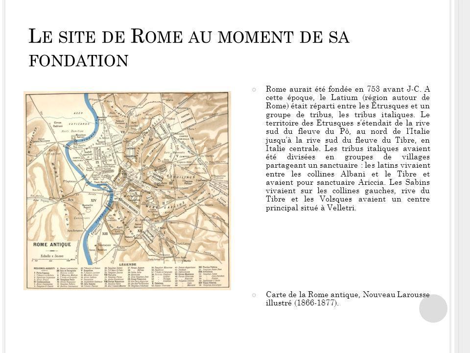 Le site de Rome au moment de sa fondation