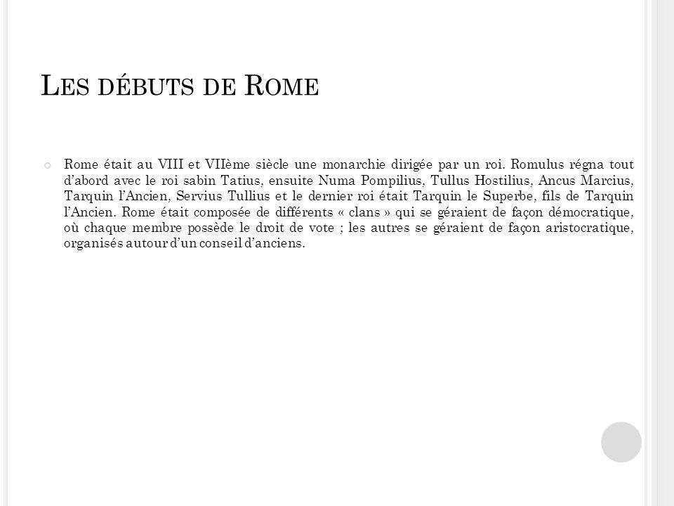 Les débuts de Rome
