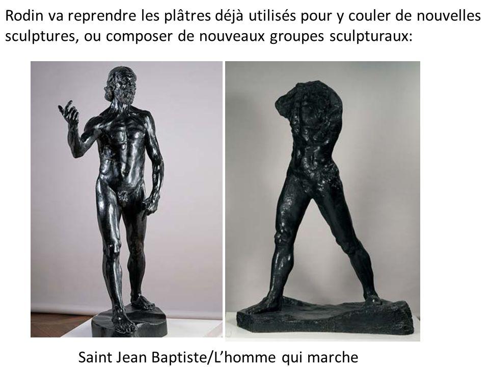 Rodin va reprendre les plâtres déjà utilisés pour y couler de nouvelles sculptures, ou composer de nouveaux groupes sculpturaux: