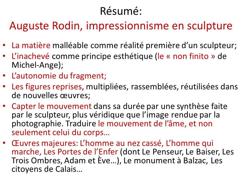 Résumé: Auguste Rodin, impressionnisme en sculpture