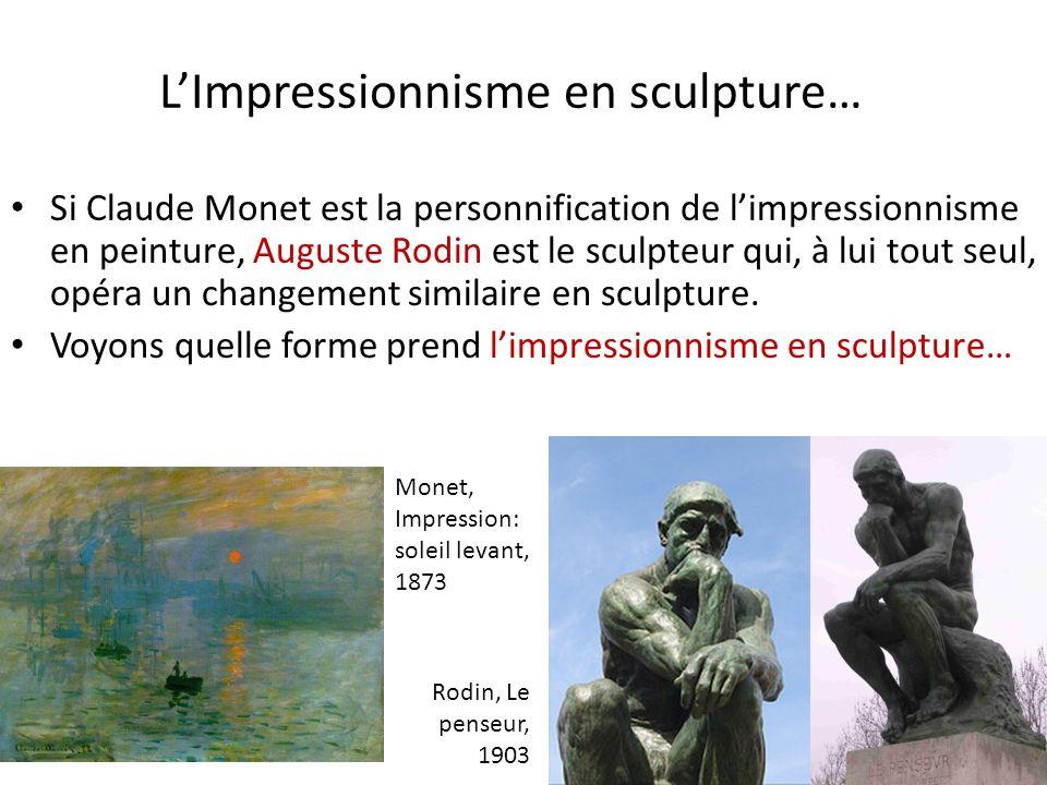 L'Impressionnisme en sculpture…