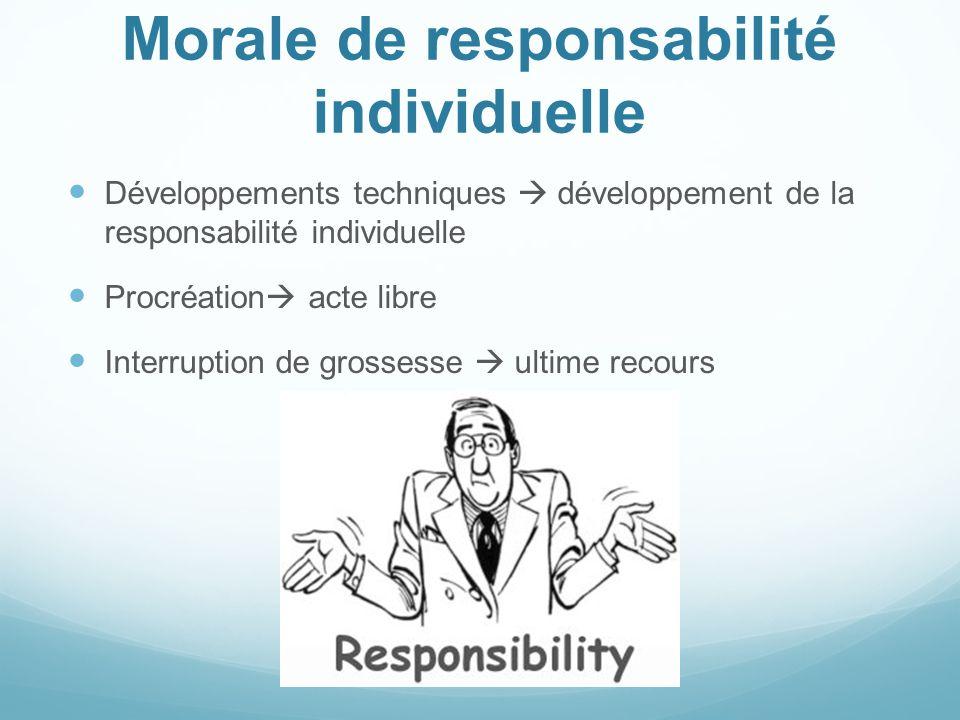 Morale de responsabilité individuelle