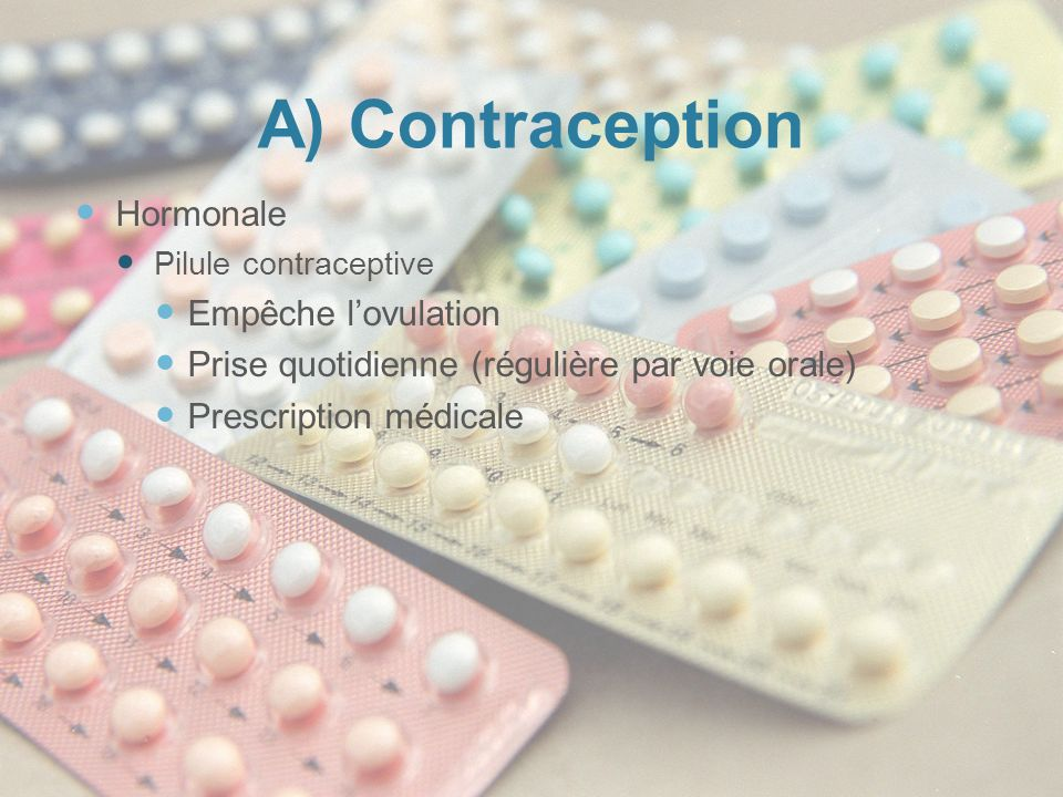 A) Contraception Hormonale Empêche l'ovulation