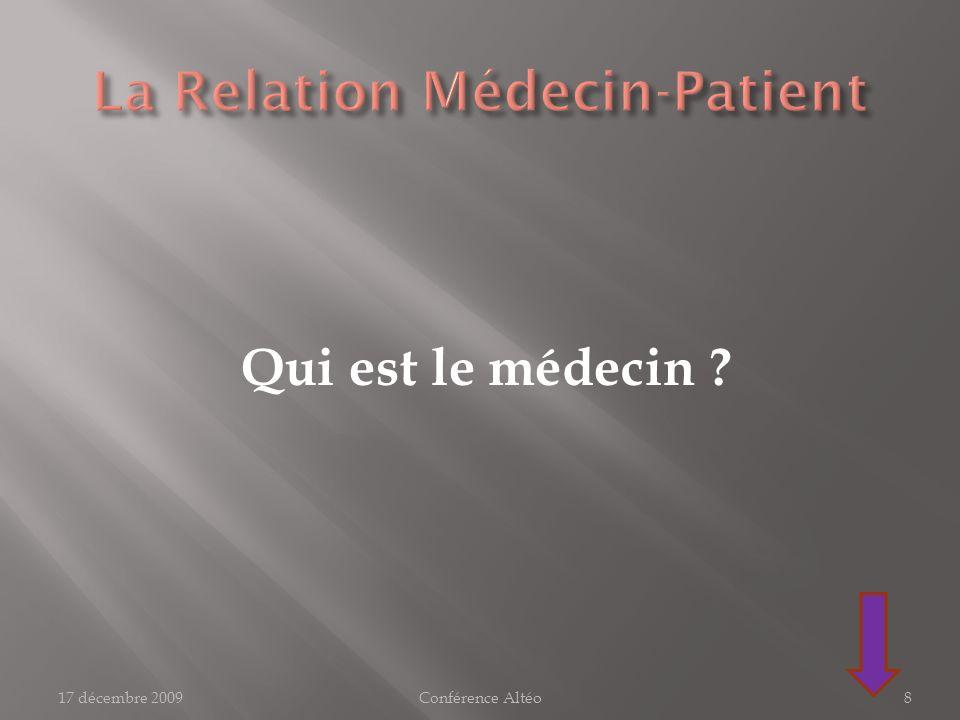 La Relation Médecin-Patient