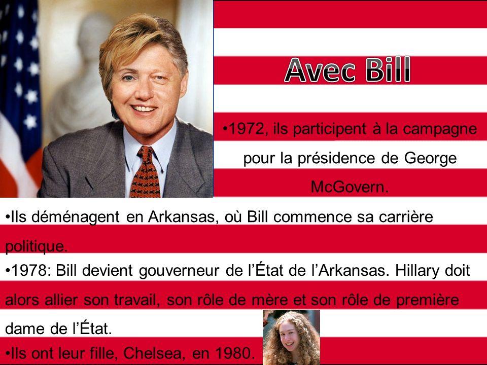 Avec Bill 1972, ils participent à la campagne pour la présidence de George McGovern.